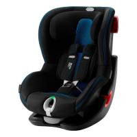 Автокресло Britax Roemer King II LS Black Series, Cool Flow - Blue, черный-голубой