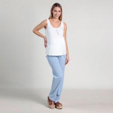 Брюки джинсовые Oh Ma для беременных, голубой