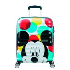 "Чемодан Disney by American Tourister Wavebreaker Disney MICKEY CLOSE-UP, ""Микки"", черный, белый и красный"