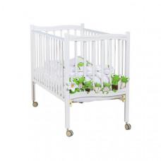 Детская кроватка на роликах Papaloni Fiore 120×60 см, белый