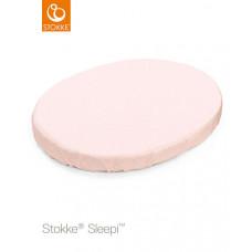 Детская простынь на резинке Stokke Sleepi Mini Pink Bee, цвет: светло-розовый