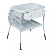 Детский пеленальный столик с ванночкой Chicco Cuddle&Bubble Dots, светло-серый