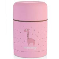 Детский термос для еды Miniland Silky Thermos, розовый