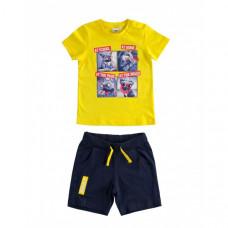 Футболка и шорты IDO в комплекте, желтый, синий
