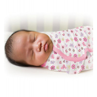 Конверт на липучке Summer Infant Swaddleme Цветочки, размер S/M, цвет: розовый