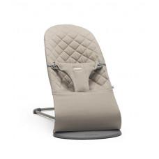 Кресло-шезлонг BabyBjörn Bliss Cotton, цвет: песочный