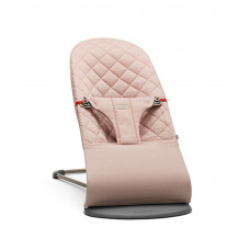 Кресло-шезлонг BabyBjörn Bliss Cotton, цвет: розовый