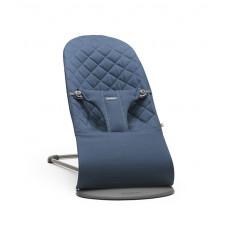 Кресло-шезлонг BabyBjörn Bliss Cotton, цвет: темно-синий