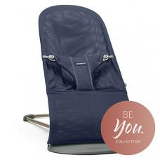 Кресло-шезлонг BabyBjörn Bliss Mesh, цвет: темно-синий