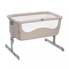 Кроватка детская Chicco Next2Me 0м+, цвет: бежевый