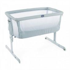 Кроватка детская Chicco Next2Me Air Antiguan Sky, голубой