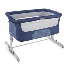 Кроватка детская Chicco Next2Me Dream Navy, синий