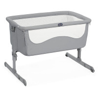 Кроватка детская Chicco Next2Me Pearl, серый