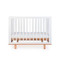 Кроватка детская Happy Baby MIRRA, 120 х 60 см, белый