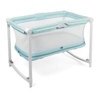 Кроватка-манеж Chicco ZIP & GO Aquarelle, голубой