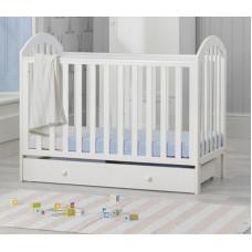 Кроватка Mothercare Marlow 120×60 см, цвет: белый