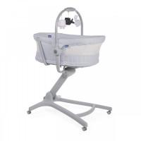 Кроватка-стульчик Chicco Baby Hug 4 в 1 Air Stone, серый