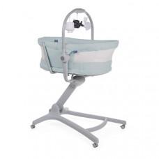 Кроватка-стульчик Chicco Baby Hug 4 в1 Air Antiguan Sky, светло-голубой