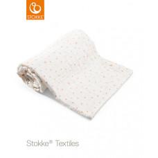 Муслиновое детское одеяло Stokke Coral Bee OCS, 100x100 см