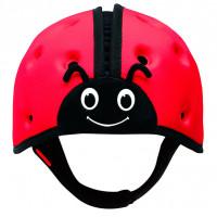 "Мягкая шапка-шлем для защиты головы SafeheadBABY ""Божья коровка"", цвет: красный"