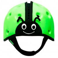 "Мягкая шапка-шлем для защиты головы SafeheadBABY ""Божья коровка"", цвет: зеленый"