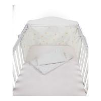 Набор для детской кроватки с бампером, розовый