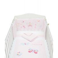 """Набор в детскую кроватку """"Бабочки"""", розовый"""