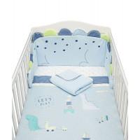 """Набор в детскую кроватку """"Динозаврик"""", голубой"""