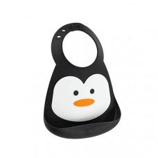 Нагрудник Make My Day Baby Bib Penguin, цвет: черно-белый