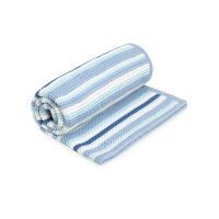 Одеяло Mothercare в полоску вязаное, голубой