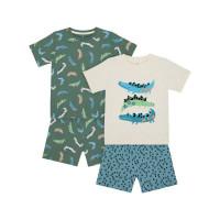 """Пижамы """"Крокодильчики"""", 2 шт., зеленый"""