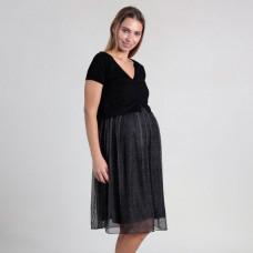 Платье с имитацией футболки и юбки для беременных Oh Ma, черный