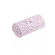 Плед для детской кроватки хлопковый 155х120 см, розовый