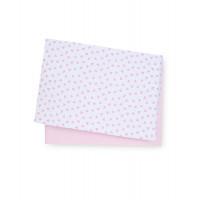 Простыня натяжная для кроватки, трикотажная, цвет: розовый - 2 шт. в упаковке