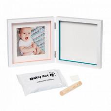 """Рамочка двойная Baby Art """"Baby Style"""", белый"""