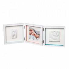 "Рамочка тройная Baby Art ""Baby Style"", белый"