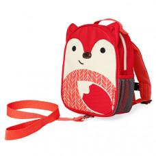 Рюкзак детский с поводком Skip Hop Zoo, Лиса, красный