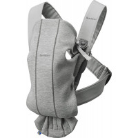 Рюкзак-переноска Baby Bjorn Mini 3D Jersey, светло-cерый