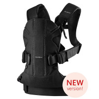 Рюкзак-переноска Babybjorn One Soft Cotton Black, цвет Черный