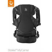 Рюкзак-переноска Stokke MyCarrier Front Black Mesh, цвет: чёрный