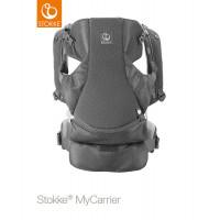 Рюкзак-переноска Stokke MyCarrier Front Grey Mesh, цвет: серый