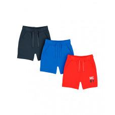 Шорты МС61, 3 шт., черный, синий, красный
