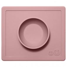 Силиконовая тарелка-плейсмат Ezpz Happy Bowl, цвет: нежно-розовый