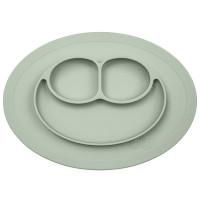Силиконовая тарелка-плейсмат Ezpz Mini Mat, цвет: оливковый