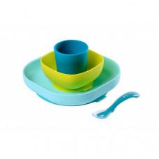Силиконовый набор посуды для кормления Beaba