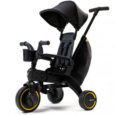 Складной велосипед Doona Liki Trike Limited Edition Midnight, черный