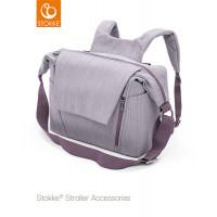 Сумка для коляски Stokke Changing Bag, Brushed Lilac, сиреневый твид