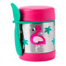 """Термос со столовым прибором Skip Hop Zoo """"Фламинго"""", розово-зеленый"""