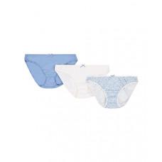 Трусы для беременных, 3 шт., белый и голубой