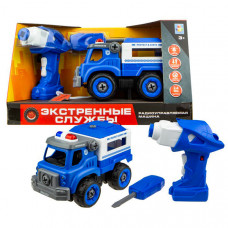 1 Toy Машинка Экстренные службы полицейский грузовик на радиоуправлении